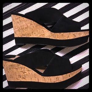 Diane von Furstenberg Monaco wedge heels 38/8